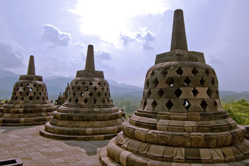 The Borobodur Temple Complex, Indonesia