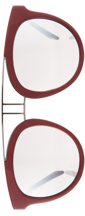 Balmain Round Mirrored Acetate & Metal Double-Bridge Sunglasses