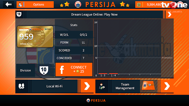 Dream League Soccer (DLS) 18 Apk Mod Persija Unlimited Money