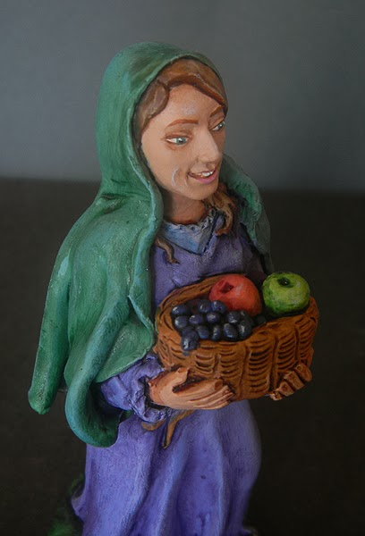 pastorella presepe personalizzata statuine ritratti viso statuette orme magiche