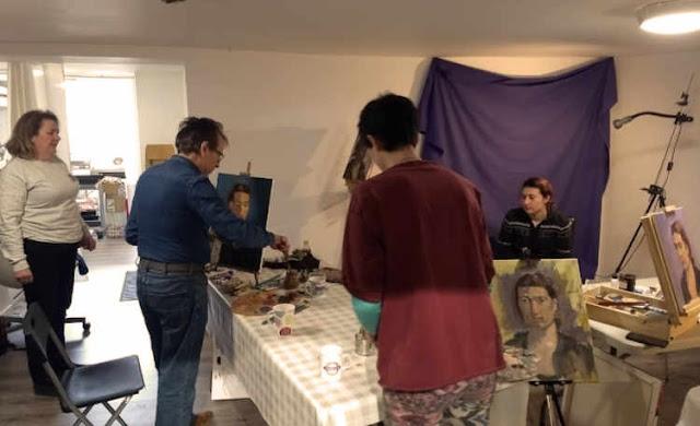 Oils study portrait painting workshop Rathmines Dublin