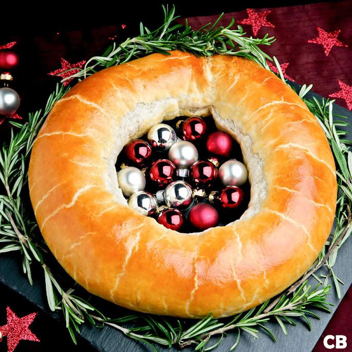 Kerstkrans gevuld met Limburgs gehakt