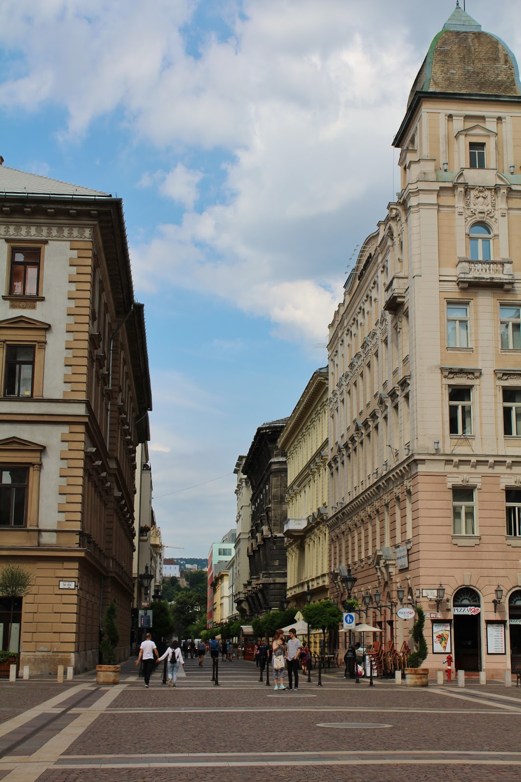Street and Buildings in Budapest