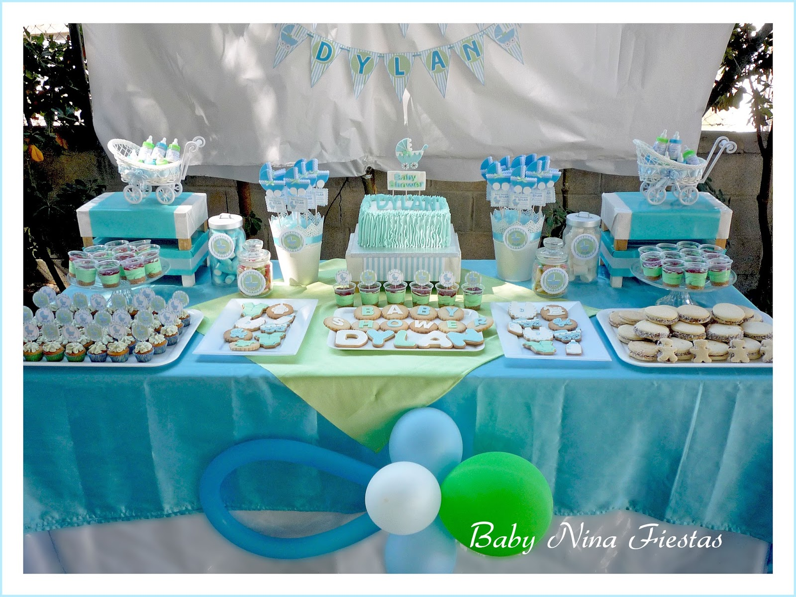 Mesa Baby Shower Nino Of Baby Nina Fiestas Baby Shower Dylan