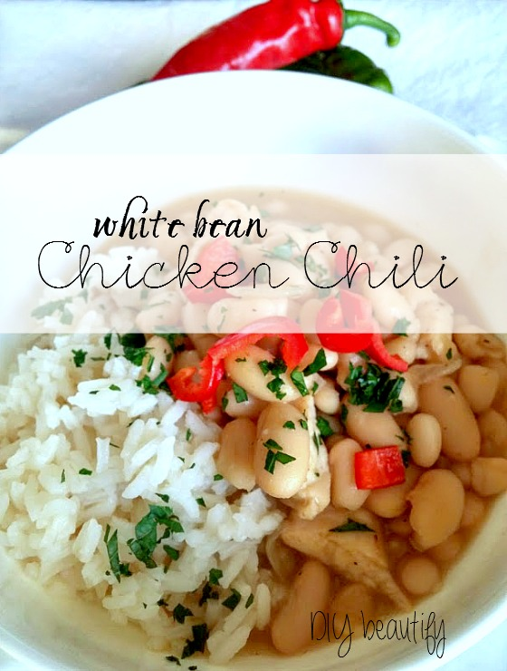 Easy, economical and delicious White Bean Chicken Chlil Recipe! A family favorite. See the recipe at www.diybeautify.com