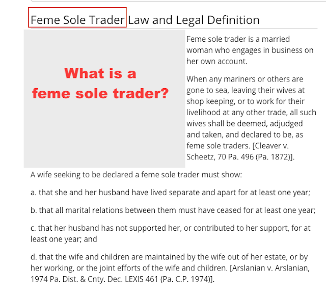 legal definition of feme sole trader