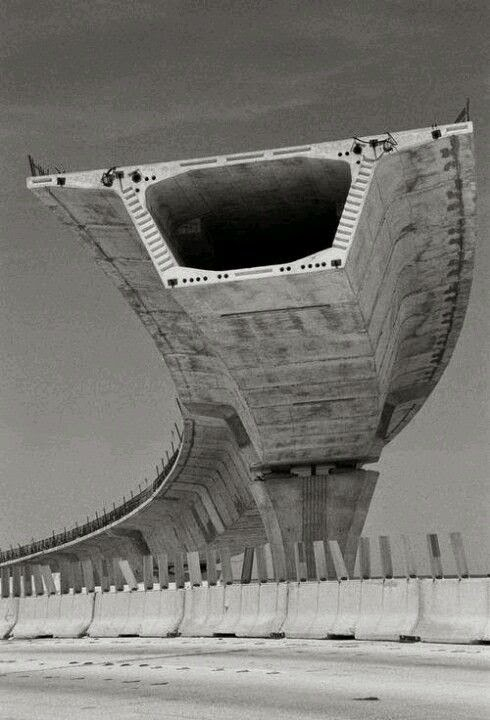 Structurally Awesome! Cantilevered section of highway.