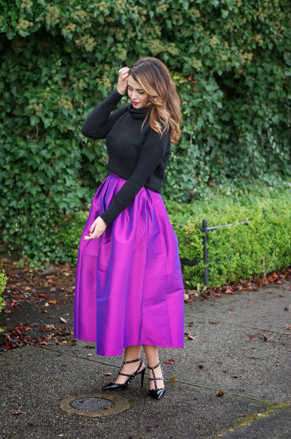 ac591ce2bf Ball Gown Skirts & Cozy Knits. Skirt Chicwish // Sweater Banana Republic ...