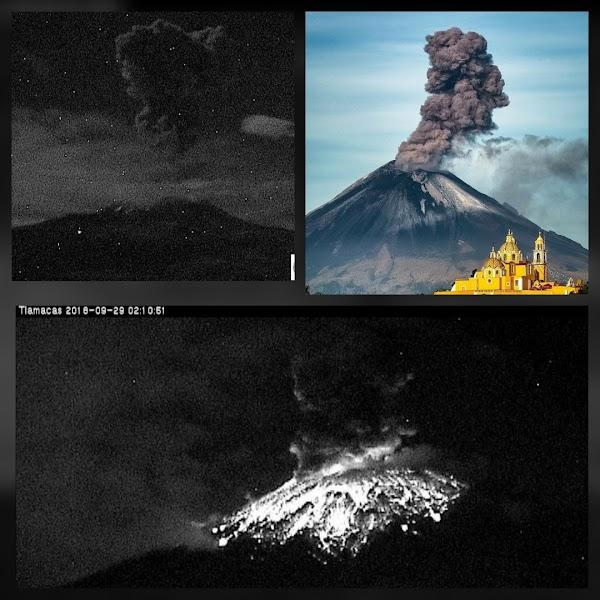 FOTOS: El Volcan Popocateptl Sigue Con Explosiones En las Ultimas 24 Horas.