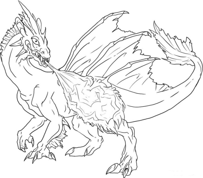Printable coloring pages and dragons ~ Ausmalbilder: Duckbare Malvorlagen