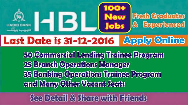 HBL Jobs in Pakistan Habib Bank Ltd Jobs