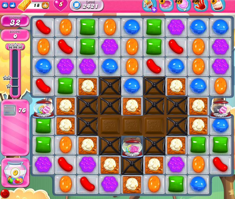 Candy Crush Saga level 2421