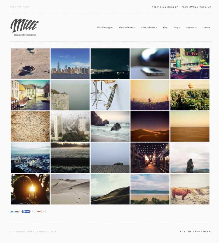 Milli Ultimate Gallery Theme