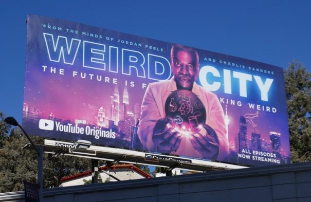 Weird City series premiere billboard