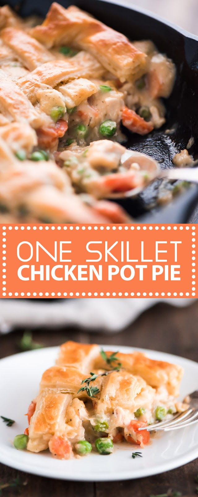 ONE SKILLET CHICKEN POT PIE