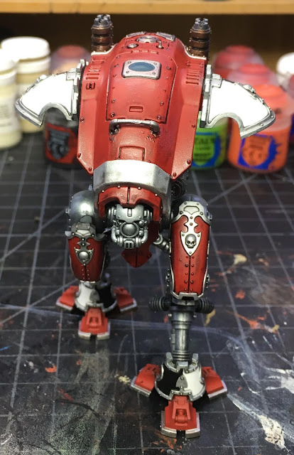 Imperial Knight Armiger Warglaive WIP Flat varnish applied.
