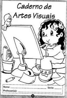 Capa de caderno artes visuais