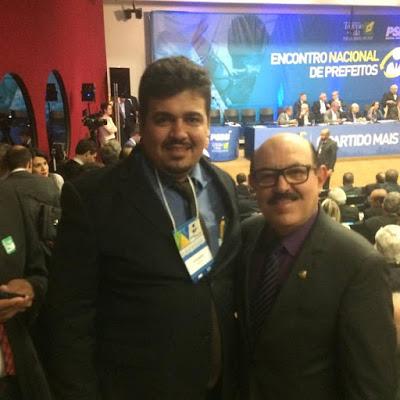 Em Brasília, prefeito de Aroeiras Mylton Marques participa do Encontro Nacional de Prefeitos do PSDB