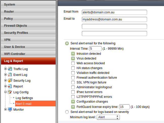 Al's Tech Corner: How-to: Send email alerts from a FortiGate