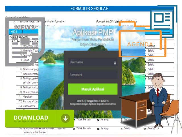Get File Instrumen dan Aplikasi PMP Versi 1.2 Kemdikbud 2016