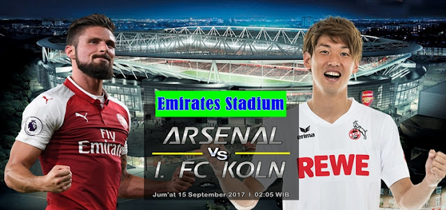 Prediksi Taruhan Bola 365 - Arsenal vs FC Koln 15 September 2017