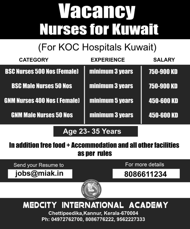 NURSES VACANCIES FOR KOC HOSPITALS - KUWAIT ~ WORLD4NURSES