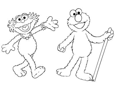 Gambar Mewarnai Elmo - 5