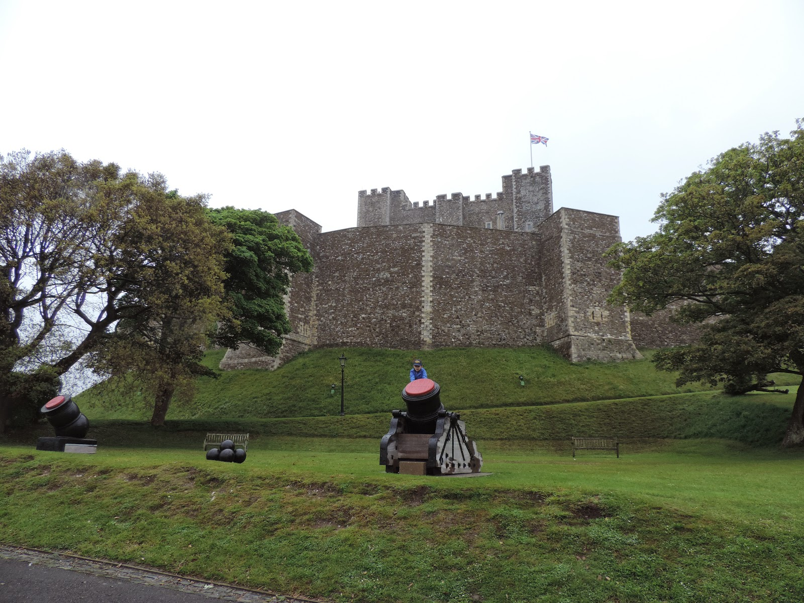 english heritage dover castle kent great tower from peverells gate