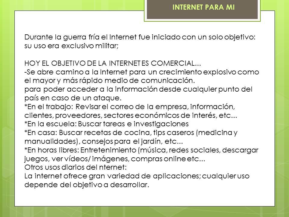 jfr internet para mi jn presentaciÓn proyecto