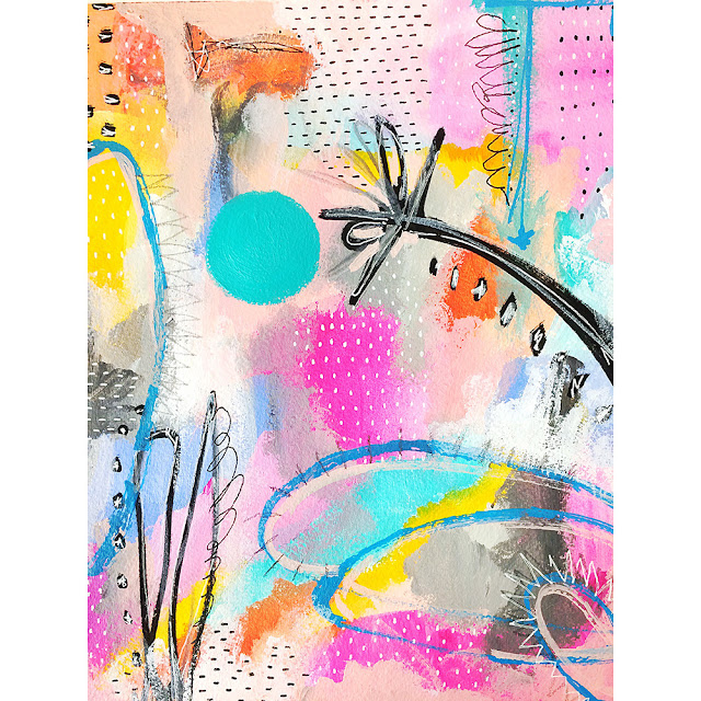 Samantha Russo, mixed media art, sketchbook conversations
