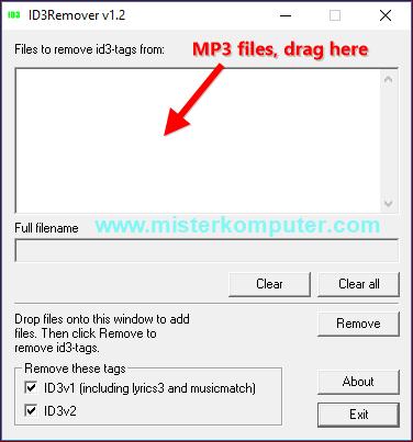 Cara Menghapus ID3 Tag File MP3 Secara Masal