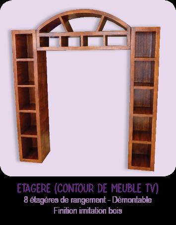 Etagere sur-mesure - contour de meuble TV en carton _ imitation bois _ par Cartons Dudulle