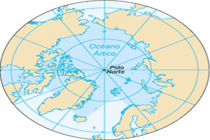 Localización del Círculo Polar Ártico en el planisferio terrestre