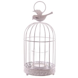 Tealight Candle Holder : Decorative Wire Bird Cage ...