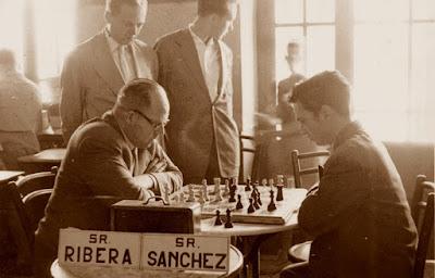 Partida de ajedrez Ribera-Sánchez, La Pobla de Lillet, 1956