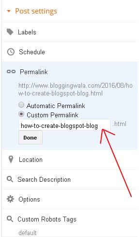 add-permalink-in-blogspot