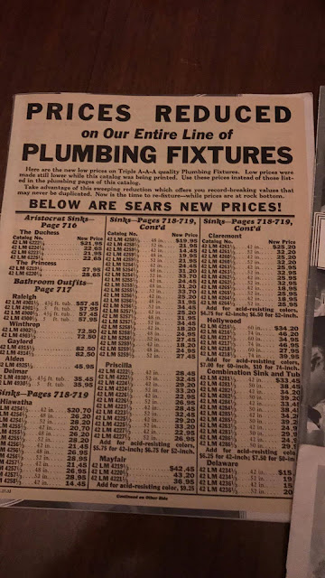 buying a house from Sears plumbing prices