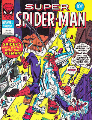 Super Spider-Man #304, the Iceman