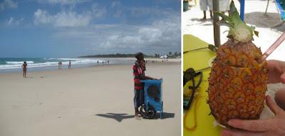 Strandleben in Maceio, Brasilien mit meiner Ananas