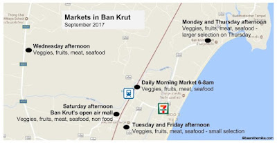 Markets in Ban Krut - now every day not just in the morning