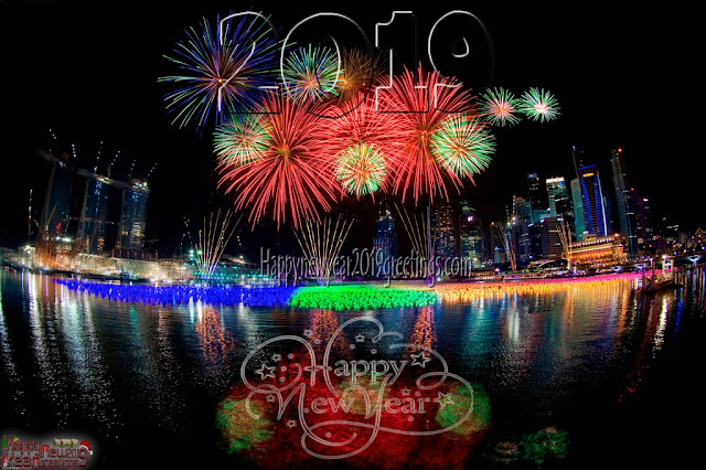 New Year 2019 Fireworks Photo Greetings 1080p