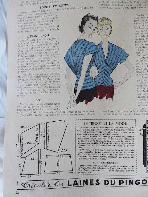 corsage d'été 1950