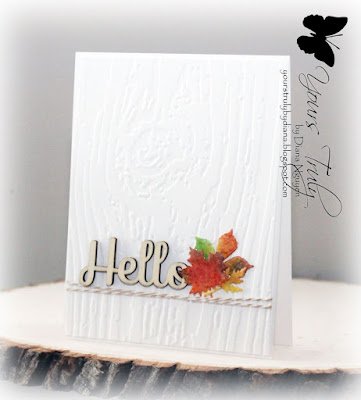 Diana Nguyen, CAS, Hello, card, Impression Obsession, leaves