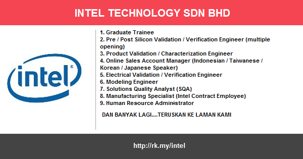 Jawatan Kosong di Intel Technology Sdn. Bhd.