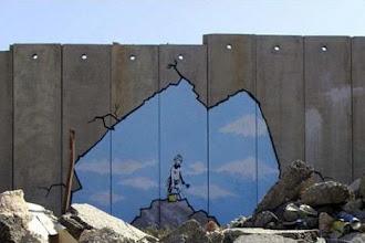Street Art : Banksy en Palestine - Projet Santa's Ghetto - juillet 2005
