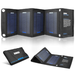 Anker 14W Dual-Port Solar Charger with PowerIQ Technology