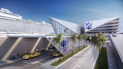 Passenger Drop Off at Royal Caribbean's New Miami Cruise Terminal.