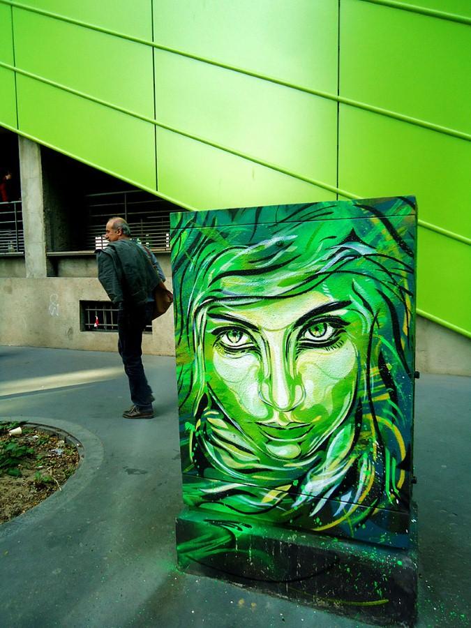 Уличное искусство Кристиана Гуеми (Christian Guémy aka C215) 7