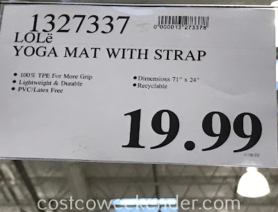 Deal for the Lole Yoga Mat at Costco