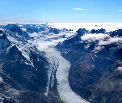 Glaciers move